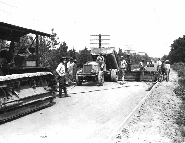 1926 paving the coastal highway