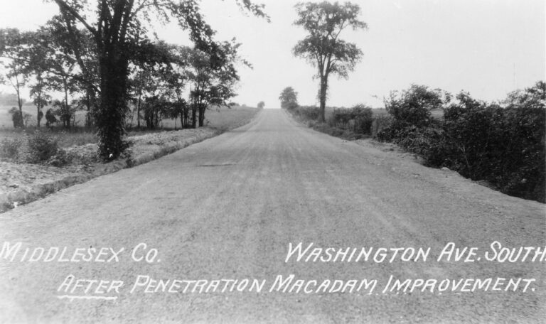Washington Ave. South after penetration Macadam Improvement
