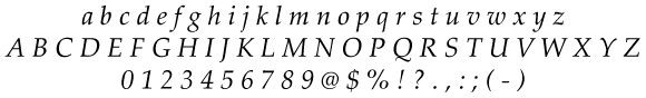 Brand Guide - Palatino Linotype Italic